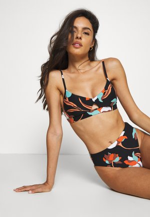 FLOWER MARKET BRALETTE - Bikini top - black