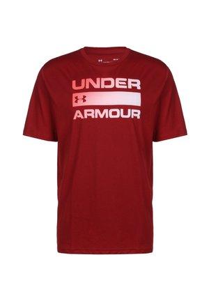 TEAM ISSUE WORDMARK TRAININGSSHIRT HERREN - Print T-shirt - dark red