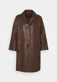 PANTONE - Leather jacket - dark brown