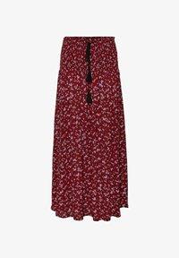 Vero Moda - GESMOKT - Jupe longue - tibetan red - 0