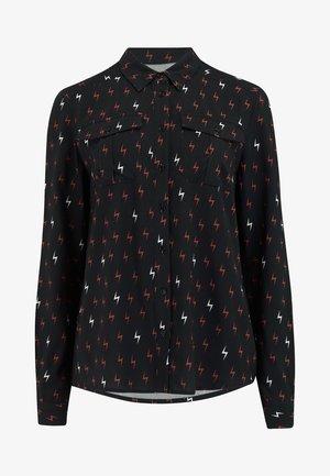ATHENA AUTUMN STORM - Button-down blouse - black