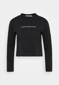 Calvin Klein Jeans - SHRUNKEN INST  - Long sleeved top - black - 3