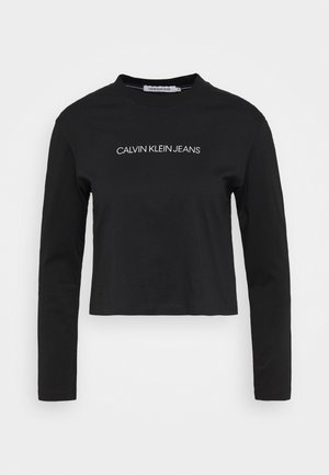 SHRUNKEN INST  - Long sleeved top - black