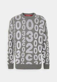ALLOVER LOGO REFLECTIVE - Sweter - grey