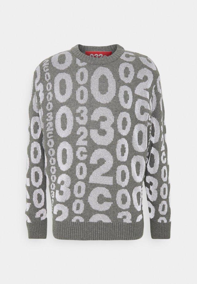 ALLOVER LOGO REFLECTIVE - Pullover - grey