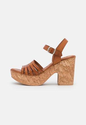 KATYA - Platform sandals - brown