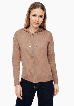 Cardigan - light brown melange