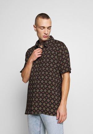 TILE PRINT - Camicia - black