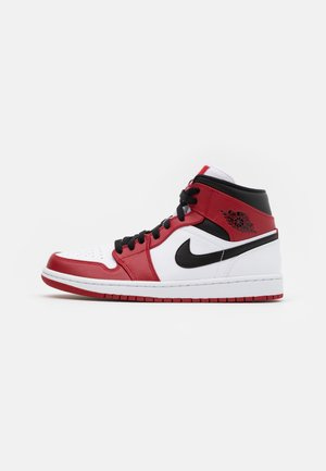 AIR 1 MID - Höga sneakers - white/gym red/black