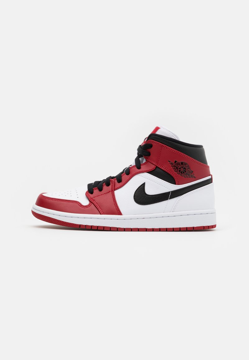 Jordan - AIR 1 MID - Sneakers hoog - white/gym red/black