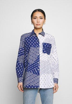 MILLIE  - Button-down blouse - navy/white