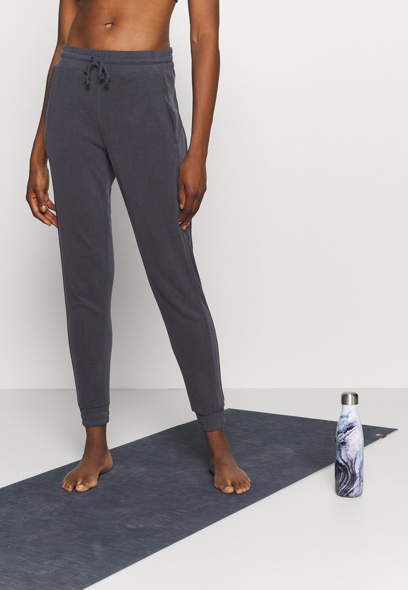 Free People - BACK INTO IT  - Tracksuit bottoms - black