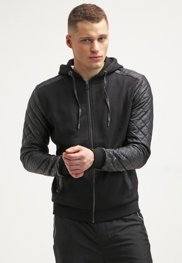 veste en sweat zippée - black/black