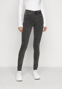 ONLY Tall - ONLBLUSH BUTTON - Jeans Skinny Fit - black - 0