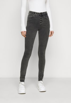 ONLBLUSH BUTTON - Jeans Skinny Fit - black