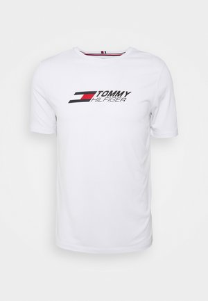 ESSENTIALS TRAINING TEE - T-shirt imprimé - white