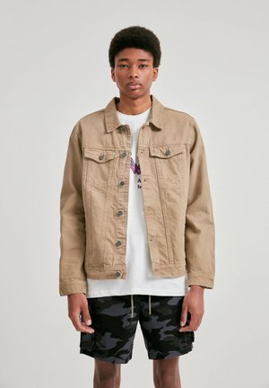 Denim jacket - mottled brown