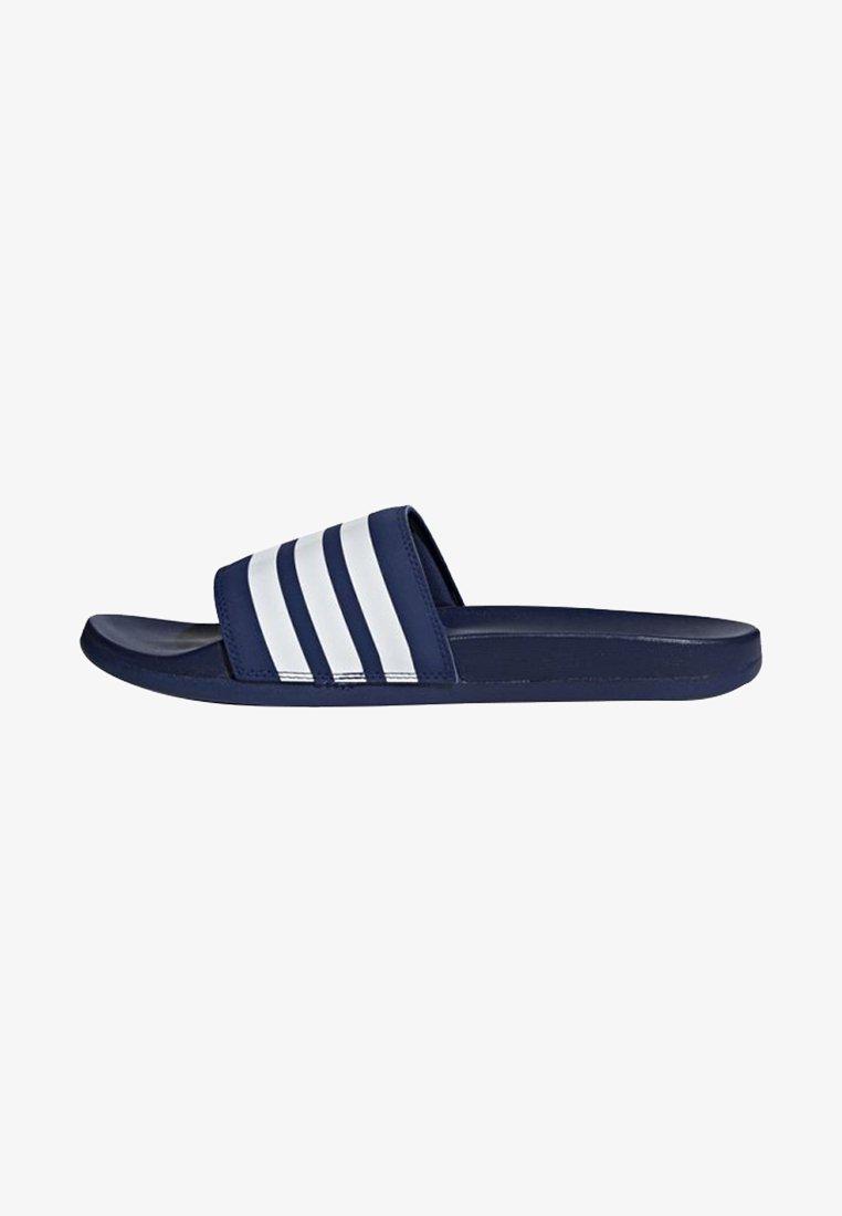 adidas Performance - ADILETTE CLOUDFOAM PLUS STRIPES SLIDES - Badslippers - blue