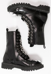Jeffrey Campbell - Cowboy/biker ankle boot - black - 3