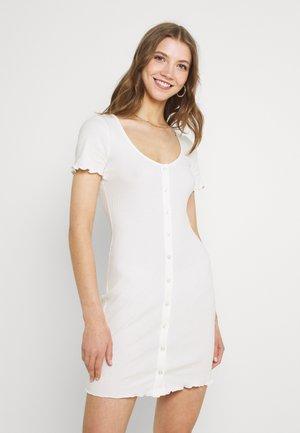 MAYA BUTTON THROUGH MINI DRESS WITH SCOOP NECKLINE - Sukienka etui - cream