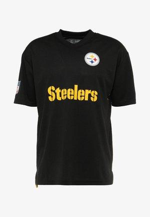 NFL PITTSBURGH STEELERS OVERSIZED WORDMARK TEE - Club wear - black