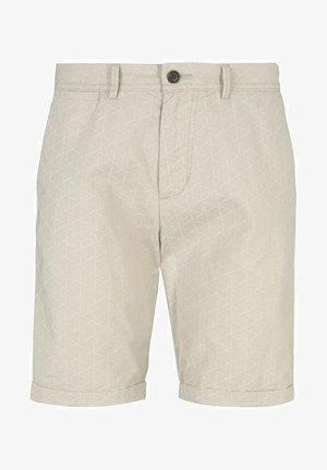 Shorts - beige big triangle print