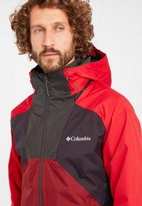 Columbia - RAIN SCAPE - Waterproof jacket - dark purple, mtn red, red jasper, shark - 4
