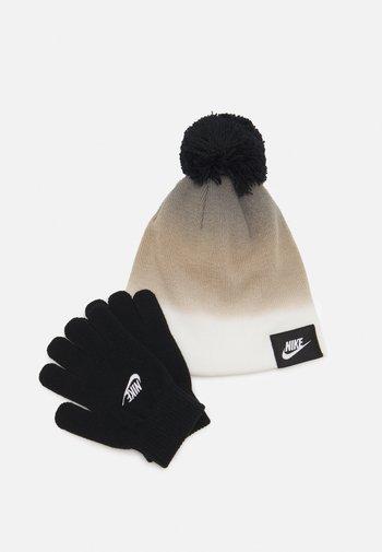 GRADIENT BEANIE GLOVE SET UNISEX - Beanie - black / white