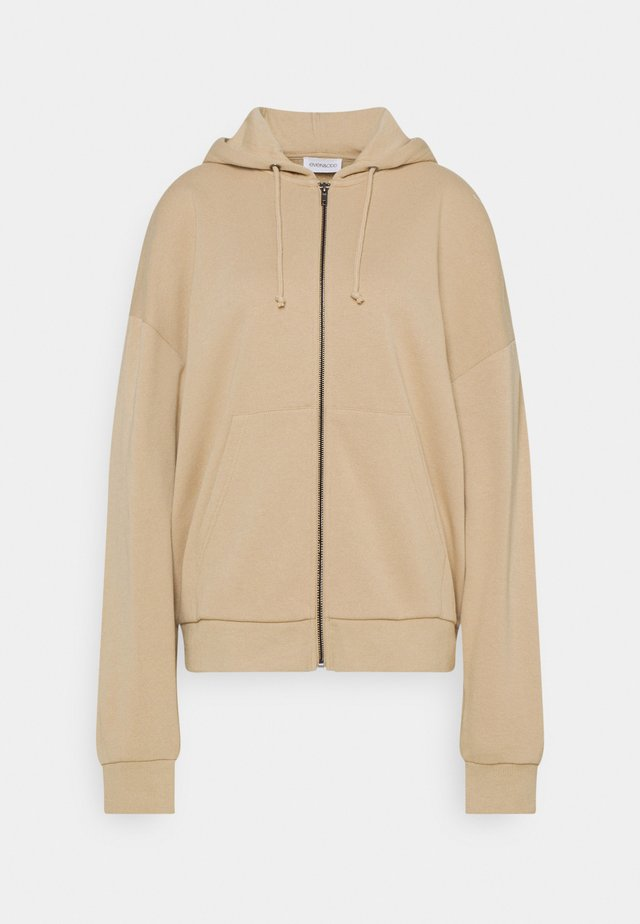 Oversized Zip Through Hoodie Jacket - Mikina na zip - mottled beige