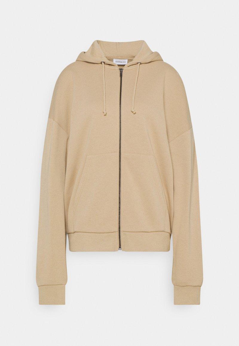 Even&Odd - Oversized Zip Through Sweat Jacket - Mikina na zip - mottled beige
