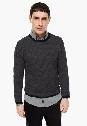 JACQUARDMUSTER - Jumper - black knit