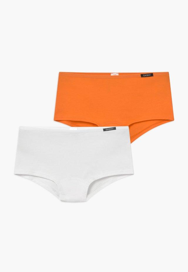 GIRLS 2 PACK - Briefs - orange/white