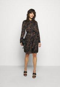 Bruuns Bazaar - ZEBRA TREE AYAN DRESS - Day dress - black - 1