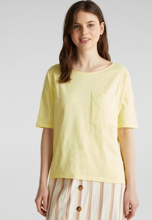 SHIRT MIT TASCHE, 100% ORGANIC COTTON - Basic T-shirt - lime yellow