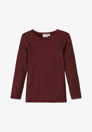 OBERTEIL  - Long sleeved top - red mahogany