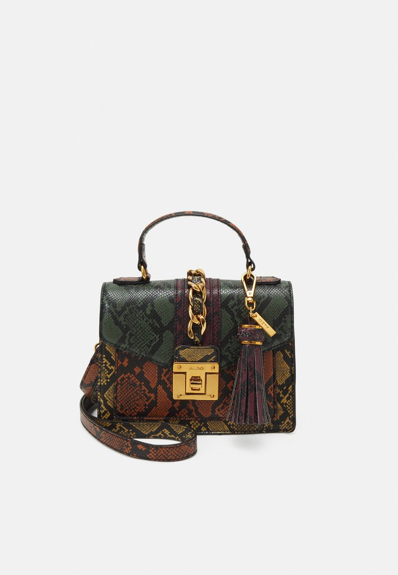 ALDO - MARTIS - Handbag - military olive/mustard rust/chocolat/gold-coloured