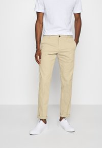 Tommy Hilfiger Tailored - FLEX SLIM FIT PANT - Trousers - beige - 0