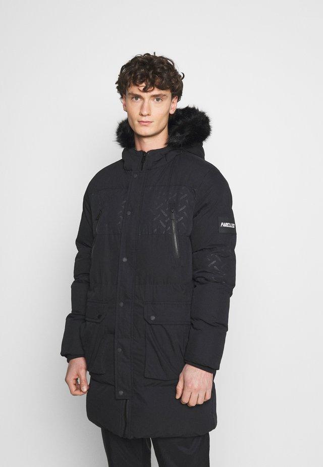 LUNAR LONGLINE JACKET - Abrigo de invierno - black