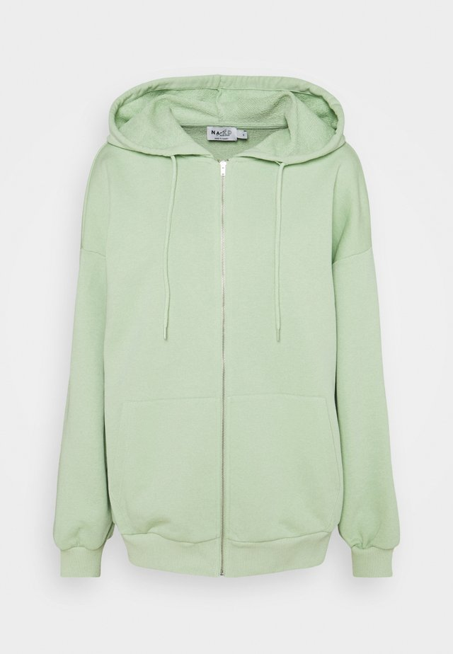 NA-KD X ZALANDO EXCLUSIVE ZIP HOODIE - Mikina na zip - fresh green