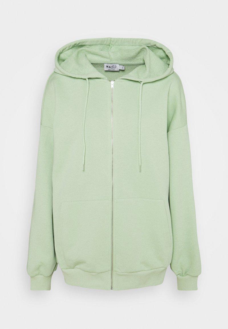 NA-KD - NA-KD X ZALANDO EXCLUSIVE ZIP HOODIE - veste en sweat zippée - fresh green