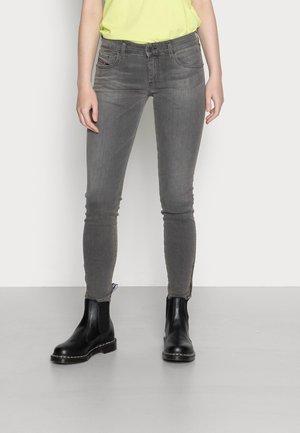 SLANDY-LOW ZIP - Jeans Skinny Fit - grey
