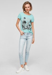 Q/S designed by - Print T-shirt - turquoise - 1