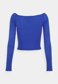 NU-IN - OFF SHOULDER HEART NECK - Long sleeved top - blue - 1