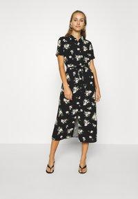 Vero Moda - VMSIMPLY EASY LONG SHIRT DRESS - Skjortekjole - black - 0