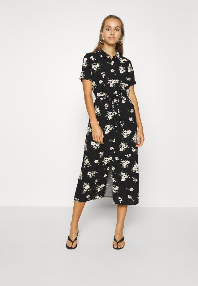 VMSIMPLY EASY LONG SHIRT DRESS - Shirt dress - black
