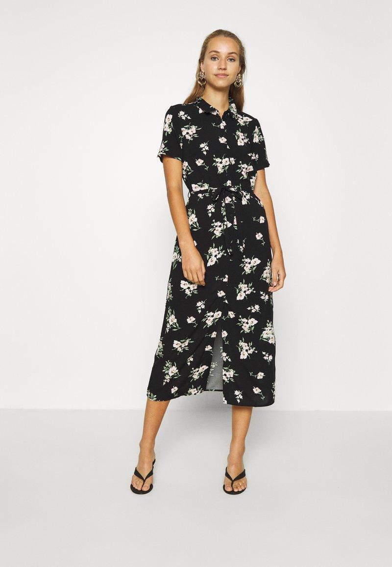 Vero Moda - VMSIMPLY EASY LONG SHIRT DRESS - Skjortekjole - black