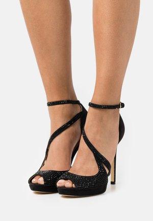 FINNEE - High heeled sandals - black