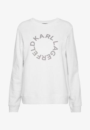 CIRCLE LOGO - Sweatshirt - white