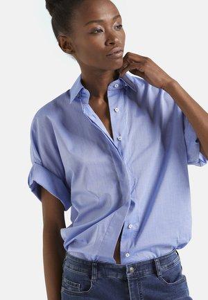 M-POESIE - Button-down blouse - mittelblau