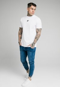SIKSILK - CUFFED - Jeans Skinny Fit - midstone blue - 1